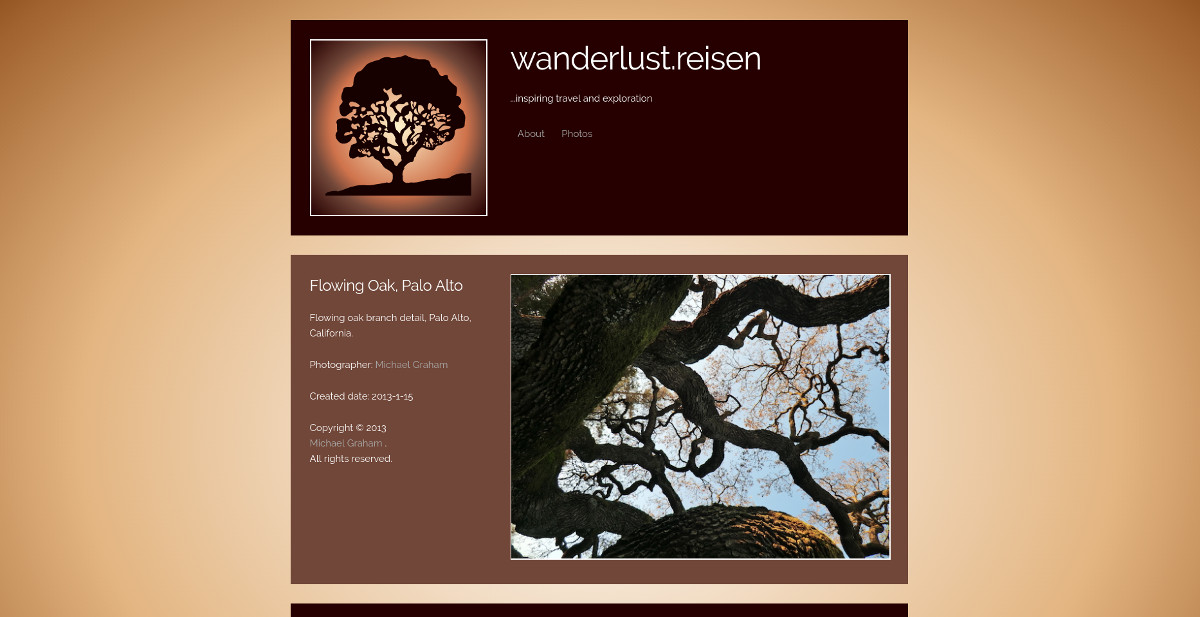 Screenshot of wanderlust.reisn website